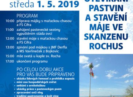 Otevírání pastvin astavění máje 1.5.2019