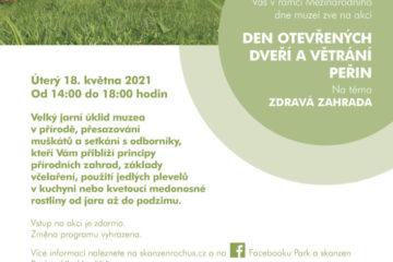 Den otevřených dveří avětrání peřin na téma zdravá zahrada